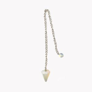 Edelstein Pendel Edelstein klein Imit Opal mit Kette